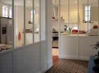 verrière cuisine peinte en blanc Galerie La Manufacture Nouvelle