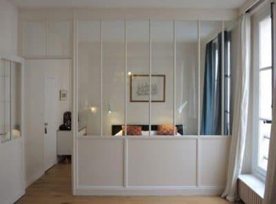 verrière chambre salon en bois Paris